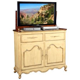 the belle weathered cream tv lift cabinet is simply shabbychic at its best finished in a beautiful rich finish