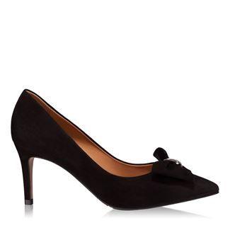 Pantofi dama negri 4252 piele intoarsa