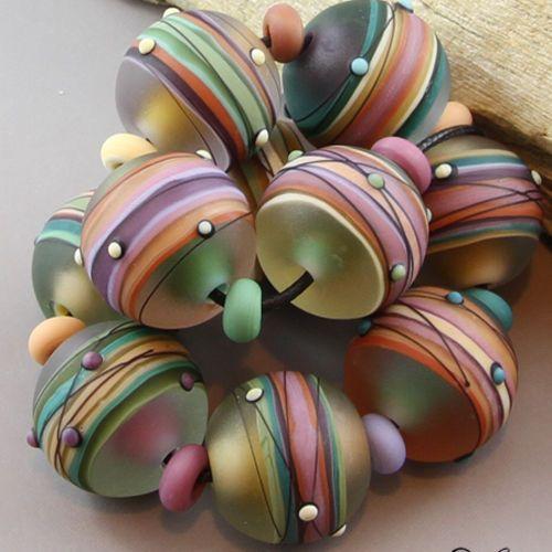 Magma Beads ~Painted Desert~ Handmade Lampwork Beads. in Jewelry & Watches | eBay