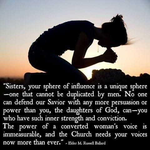 The power of sister missionaries. Love this quote SO much! :) New fave sister missionary quote!