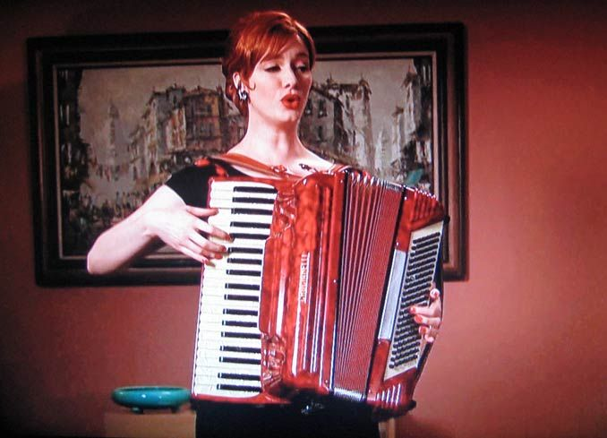 Christina Hendricks accordion
