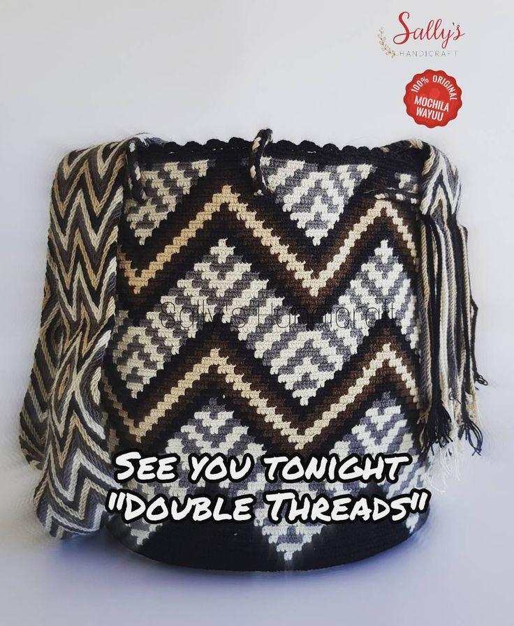 40 отметок «Нравится», 3 комментариев — กระเป๋าวายูแท้100% Wayúu bag (@sallyshandicraft) в Instagram: «ไหมคู่ ลงเพิ่มคืนนี้ค่ะ มีเบลทุกใบ เชือกผูกเทคนิคขั้นสูงทุกใบ เกรดHighค่ะ Original from Colombia…»
