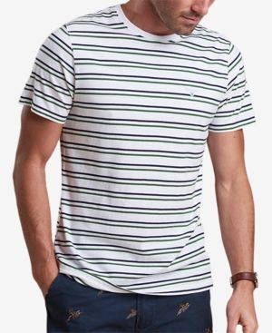BARBOUR MEN'S DUXFORD WHITE STRIPE T-SHIRT. #barbour #cloth #