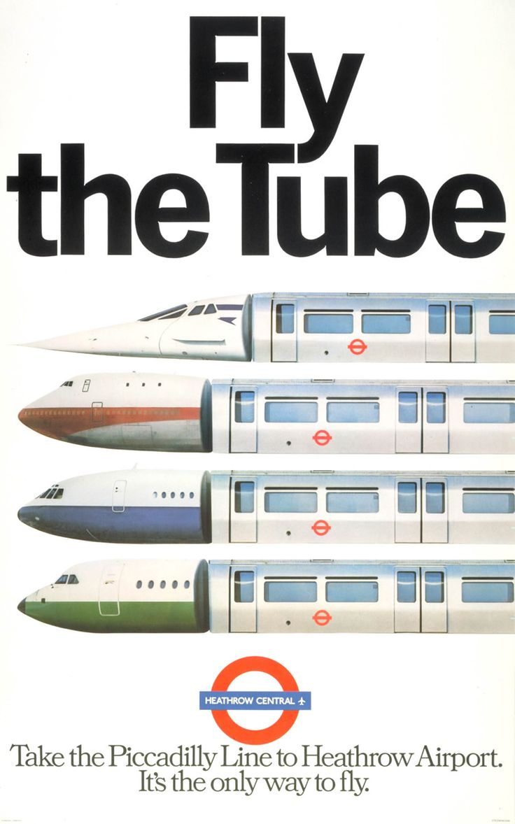 POSTER: LONDON UNDERGROUND *Take the Piccadilly Line to Heathrow Airport. It's the only way to fly*