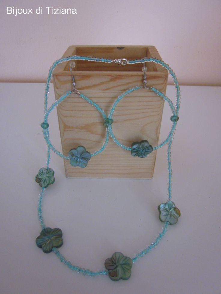 Handmade bijoux. Water green bijoux. Waiting for spring.