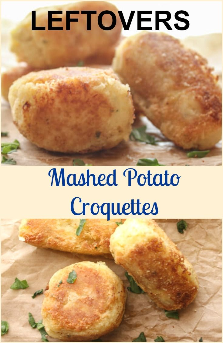 Leftover mashed potatoes become a delicious side dish, crunchy on the outside and soft on the inside potatoes.