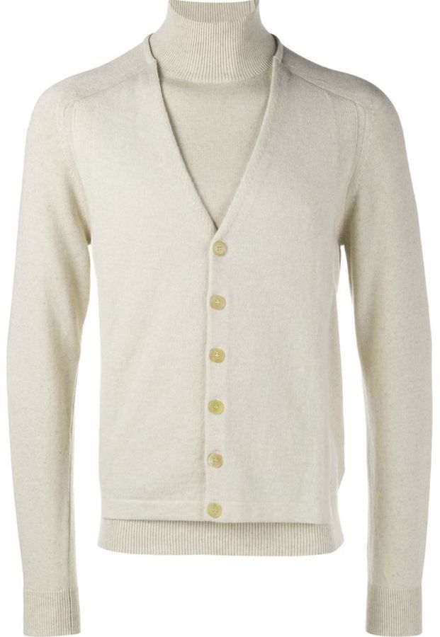 Maison Margiela cardigan layered sweater