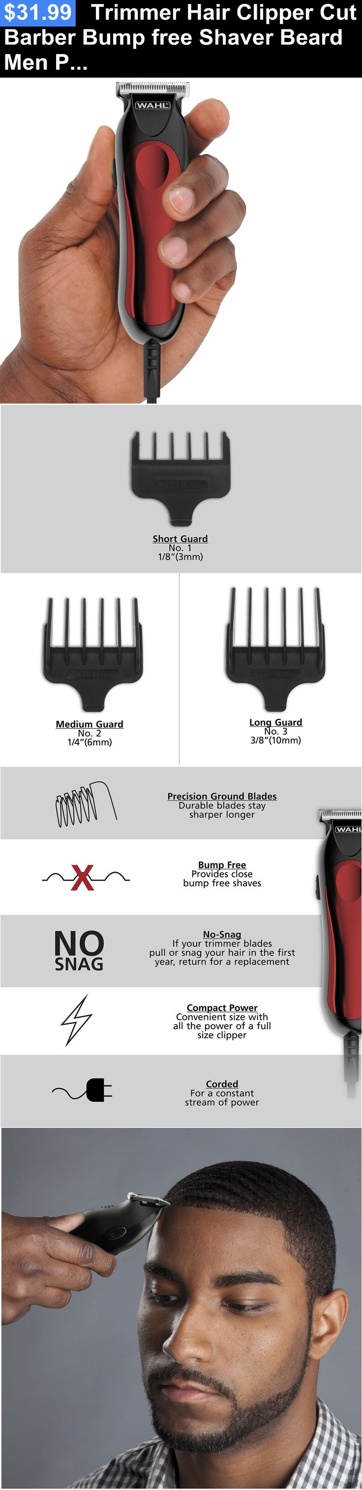 Clippers and Trimmers: Trimmer Hair Clipper Cut Barber Bump Free Shaver Beard Men Professional Kit New BUY IT NOW ONLY: $31.99