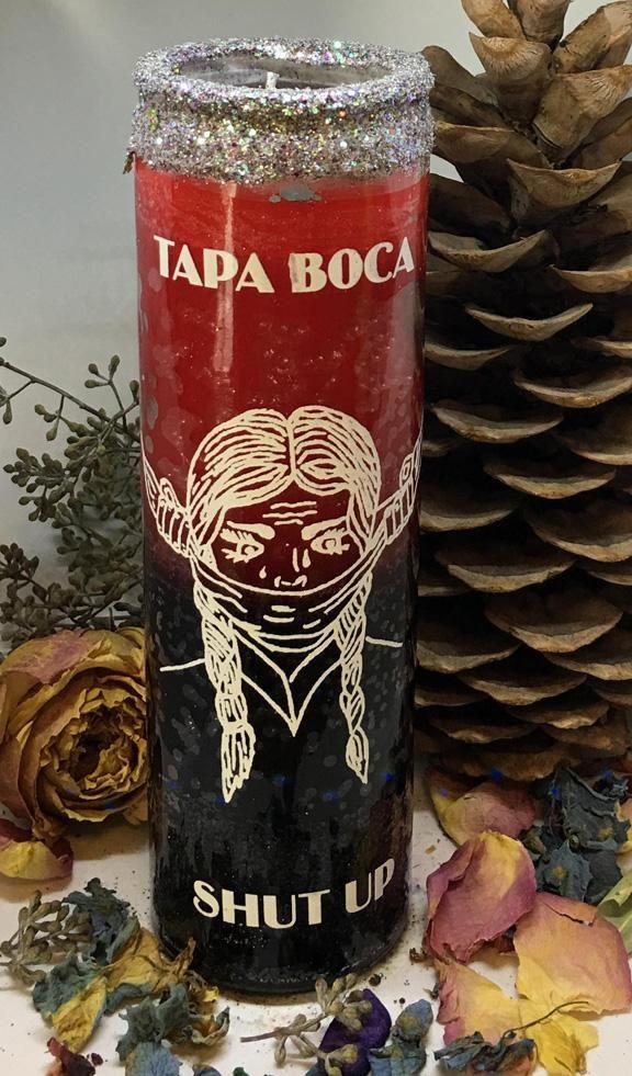 Rita's Tapa Boca 7 Day Hoodoo Ritual Candle - Stop Gossip
