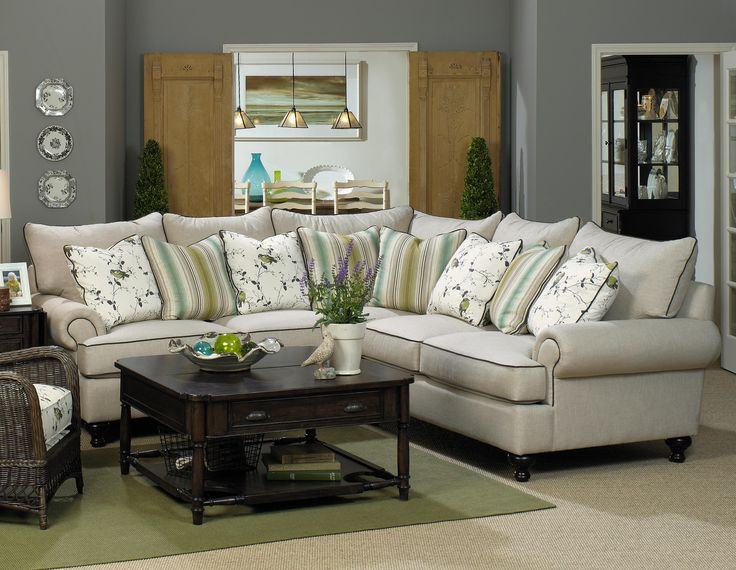 Paula Deen Home Sectional Sofa With Rolled Arms And Turned Feet By Paula  Deen By Universal   Hudsons Furniture   Sofa Sectional Tampa, St  Petersburg, ...