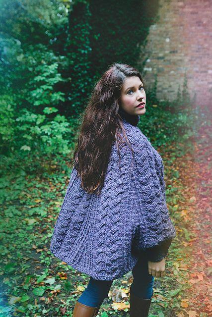 Ravelry: Mildred Poncho pattern by Helen Free