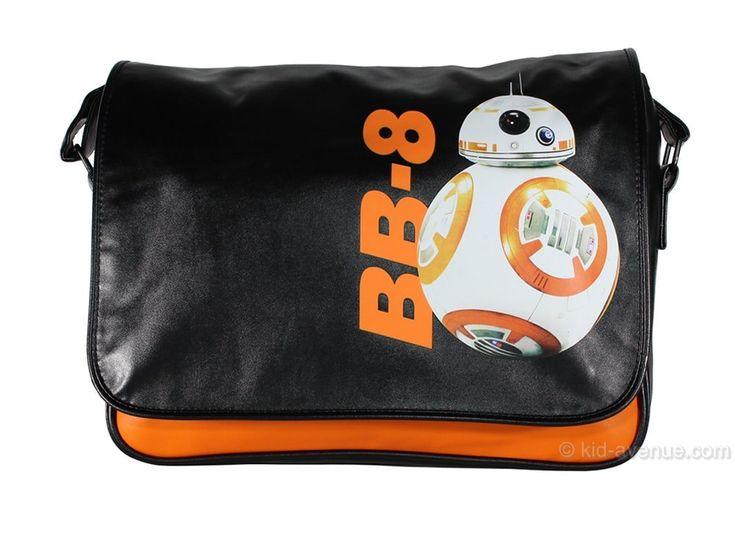 Super sac besace noir BB-8 en cuir synthétique. Pour transporter un ordinateur portable, effets personnels, affaires de cours scolaires, etc. Un sac geek et tendance. Licence officielle Lucasfilm Star Wars ! #bb8 #starwars7 #sac #sacbesace