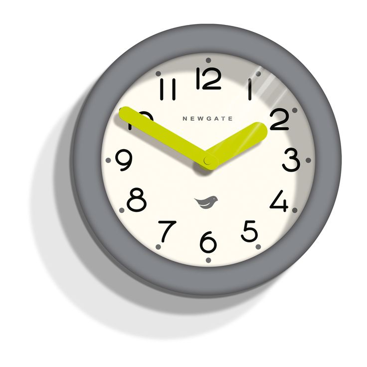 Newgate Pantry Clock Clockwork Grey- I need a a simple, fun and bright detailed clock to add an touch of colour to my kitchen wall. This looks great!  #theorchardpintowin