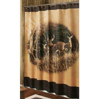 November Apples Whitetail Shower Curtain. Deer Shower CurtainBathroom ...
