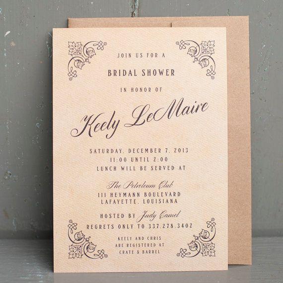 Vintage Bridal shower invitation, Gatsby, 20's inspired, Victorian ...