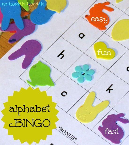 Alphabet Bingo: A fun, easy preschool activity for learning letters