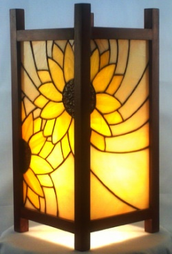 Stained Glass Sunflower Lamp $175.00