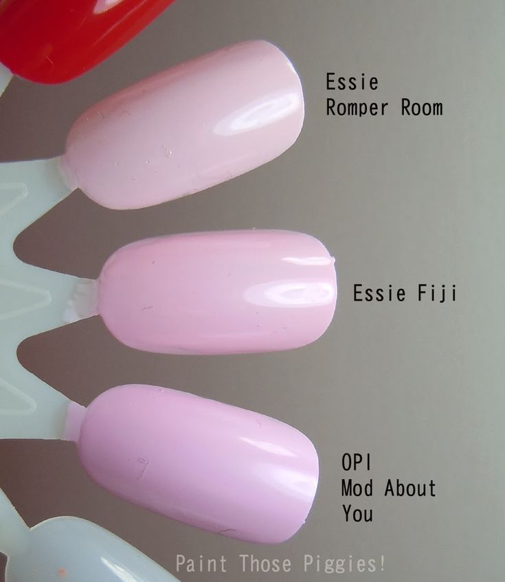 Essie Pomper Room vs Fiji vs OPI Mod About You