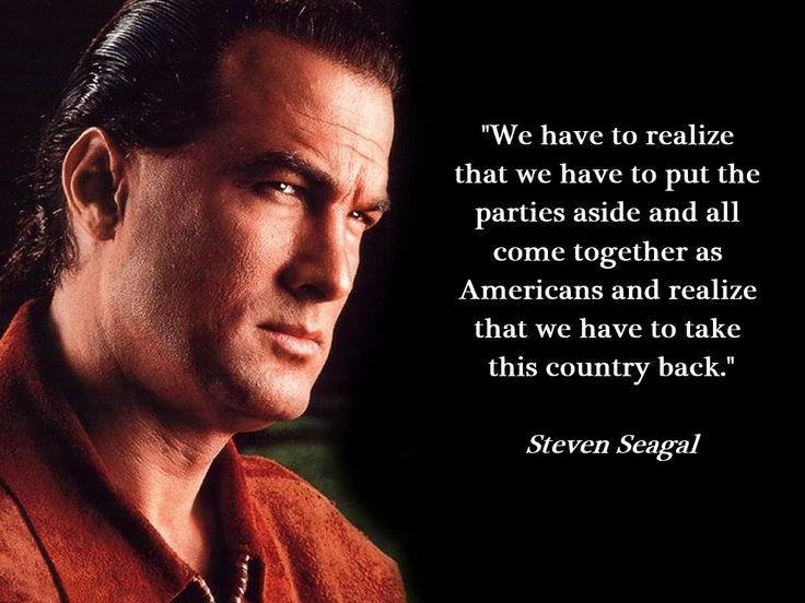 "Steven Seagal: If Benghazi Truth Comes Out Obama Won't Make It; Impeachment.  ""We have to realize that we have to put the parties aside and all come together as Americans and realize that we have to take this country back."" – Steven Seagal ... FEB 24 2014"
