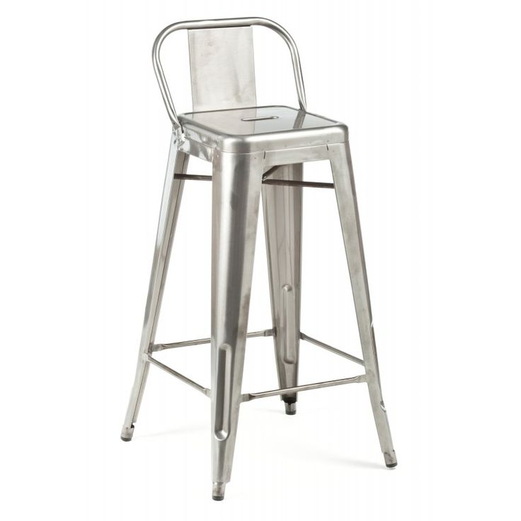 Delightful Low Back Stool U2014 Short, Sweet And To The Point: Available In Gunmetal,