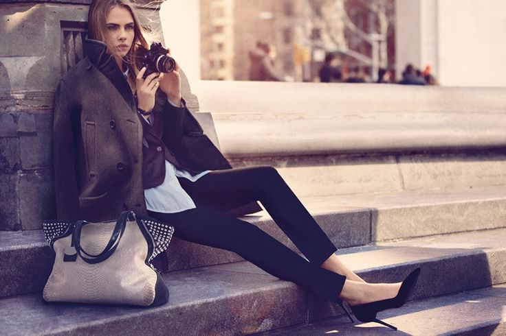DKNY Fall 2013 Ad campaign featuring Cara Delevingne.