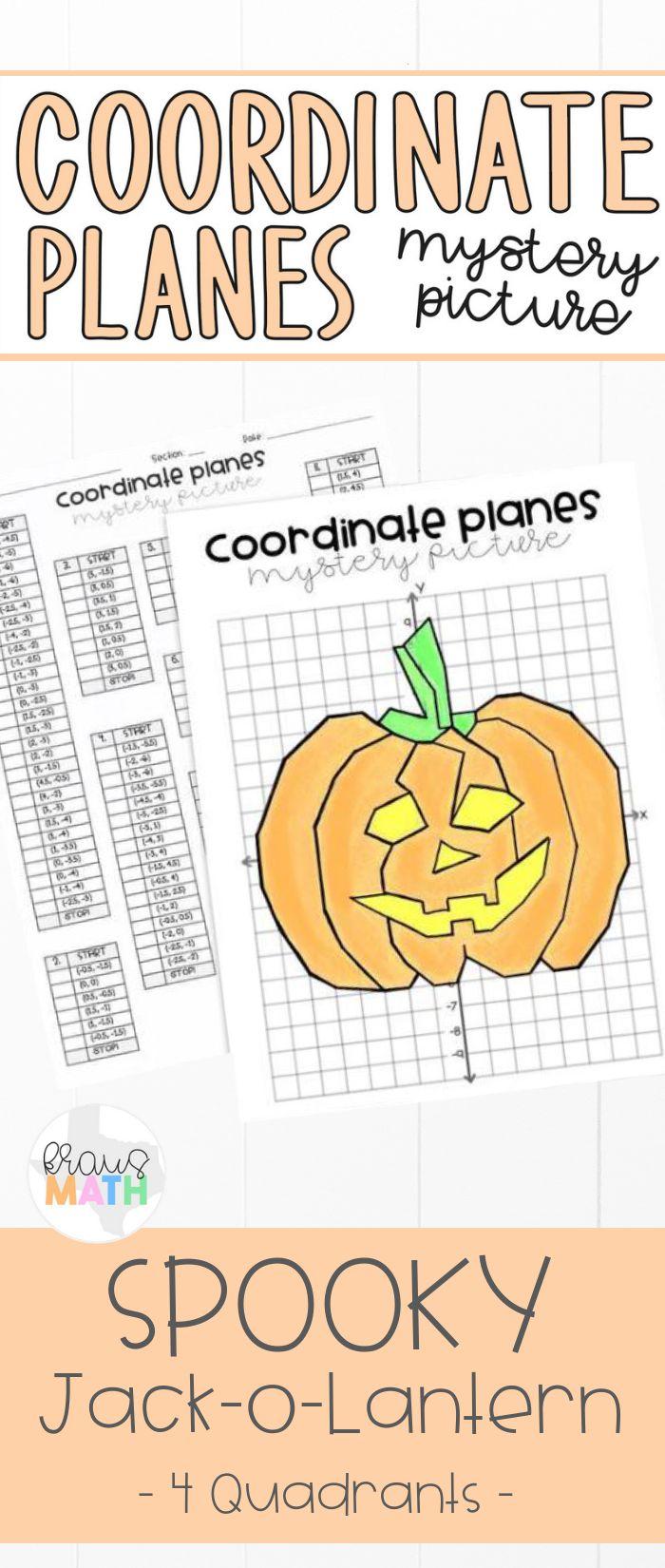 Halloween Pumpkin Coordinate Plane Mystery Picture 4