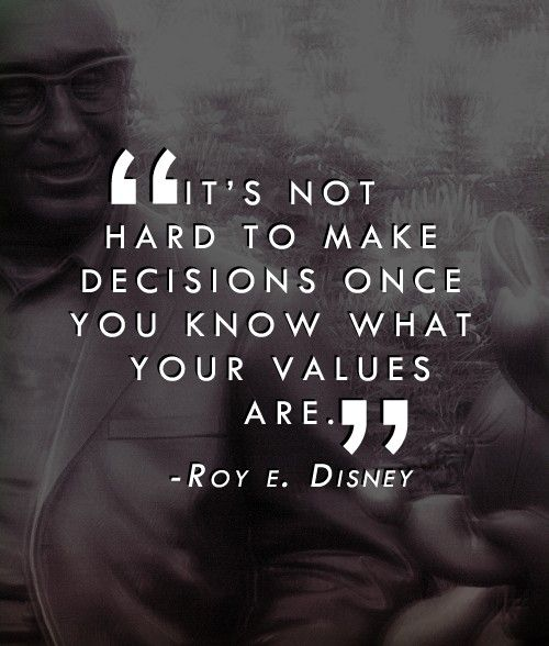 Exactly - Thanks for the quote Roy Disney! Im not sure if Disney's mission statement today reflects what Roy Disney and his big brother Walt really valued. Click the photo to read the Disney mission statement or click here... http://retailindustry.about.com/od/retailbestpractices/ig/Company-Mission-Statements/Walt-Disney-Mission-Statement.htm #disney #quotes