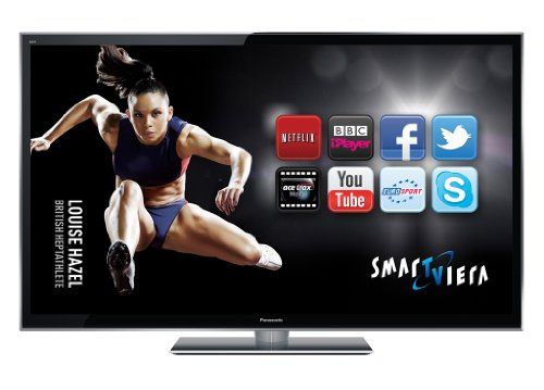 Panasonic TX-P55VT50B 55-inch Full HD 1080p 3D Smart VIERA PLASMA TV with Freeview HD and Freesat HD including 2 free pairs of 3D glasses – Black