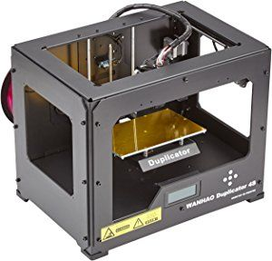 Wanhao 4S Duplicator 3D Printer, Case Dual Extruder , Metal Frame, Black