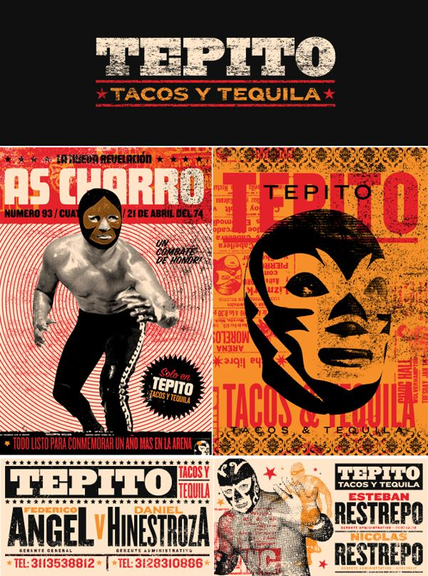 Tepito Tacos y tequila - poison graphic design