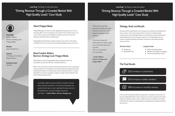 Customized case studies