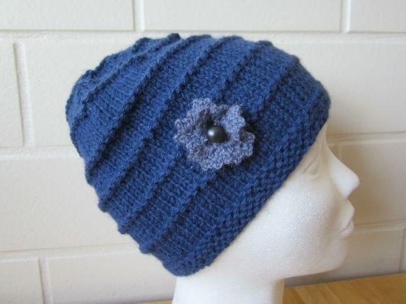 Eplabiter -  Blue knitted hat teenager/woman, Alpacca wool Lue til ungdom/ dame. Alpakka ull. http://epla.no/shops/1finlitenbutikk/