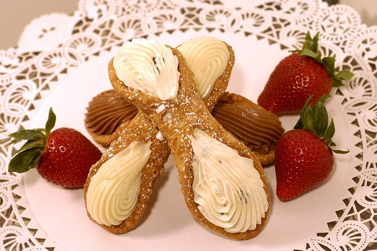 """#1 – Cannoli – #1  Cannoliare Sicilianpastrydesserts. The singular iscannolo(or in theSicilian languagecannolu, pluralcannula), meaning """"little tube"""". Cannoli originated inSicilyinPiana degli Albanesiand are a staple ofSicilian cuisine. They are also popular inItalian-American cuisine. In Italy, they are commonly known as """"cannoli siciliani"""",Sicilian cannoli. Everybody Loves Italian Click here to visit our webpage at …"""