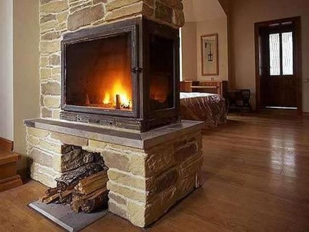 Best 25 modern fireplaces ideas on pinterest modern for Fireplace room divider