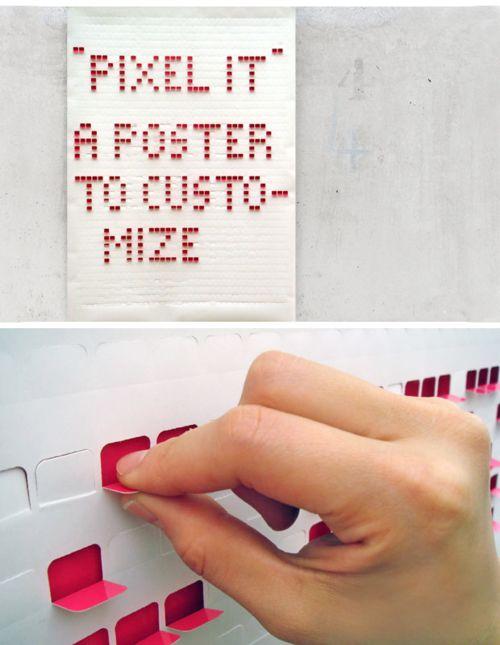 #poster #pixels #tactile