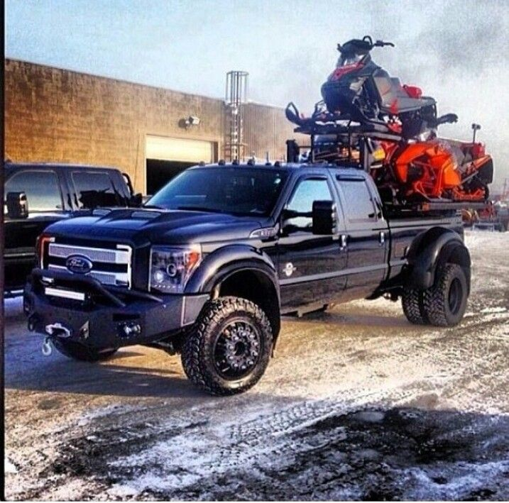 Stacked, wrapped and ready to ride. #snowmobiling | Trucks ...