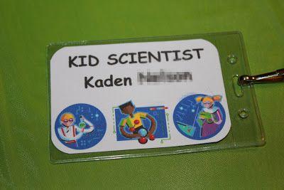 THE MUDDY PRINCESS: Science Birthday Party