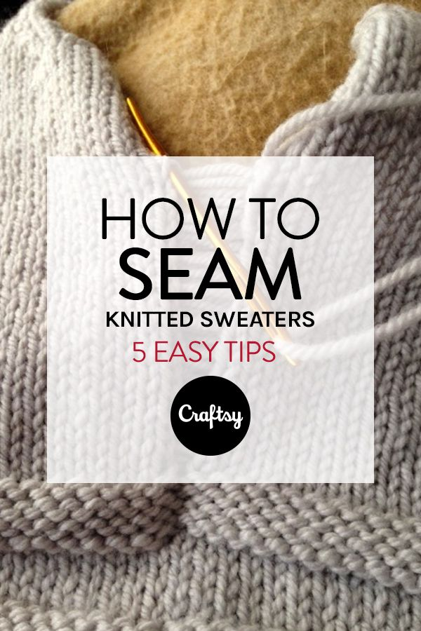 Seaming a sweater never seemed easier with this easy to follow tutorial.