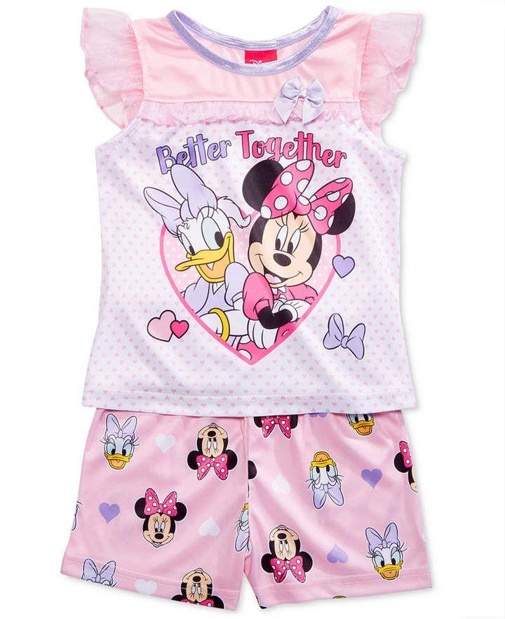 Disney Minnie Mouse and Daisy Duck 2 Piece Baby Girls Sleepwear Pajama Set