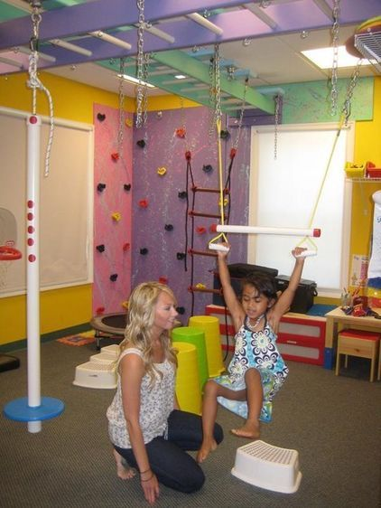 Indoor playground equipment - rings and chin-up bar