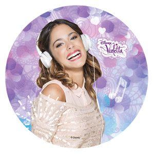Violetta : Cialda in pasta di zucchero Violetta Modecor D.22cm