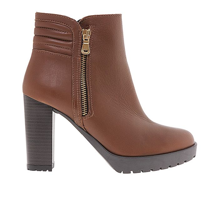 65107-COGNAC LEATHER #mourtzi #ankleboots #casual