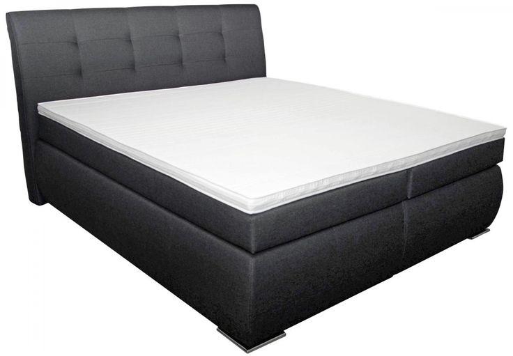 absolute entspannung bietet ihnen das gem tliche boxspringbett ateca die festgepolsterte. Black Bedroom Furniture Sets. Home Design Ideas