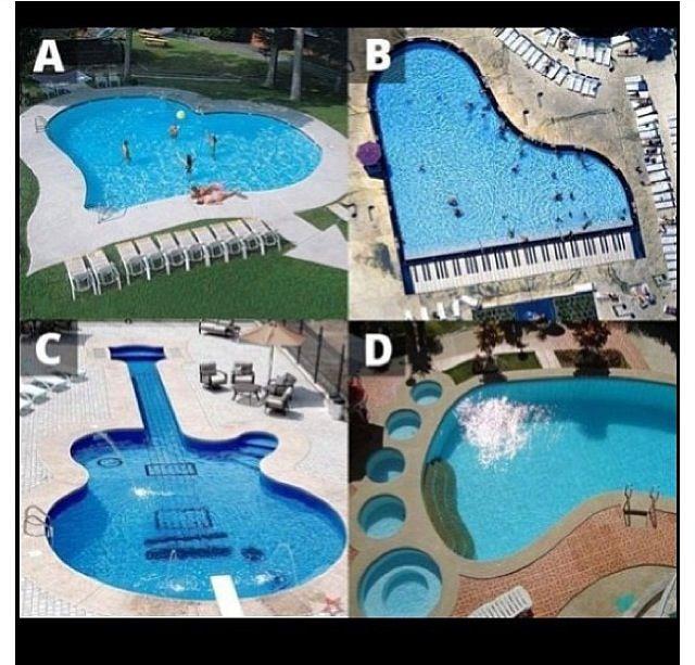 Shaped pools