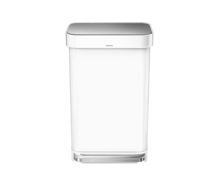 Simplehuman White Silent Close Slimline Kitchen Waste Pedal Bin (45 litre)…