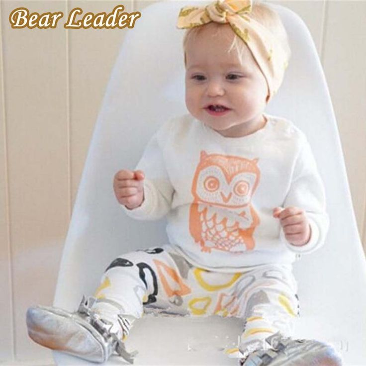 Baby Girls Clothes Set Long Sleeve T-shirt + Pants Owl Pattern Baby Clothing Set born Baby Costume Suits