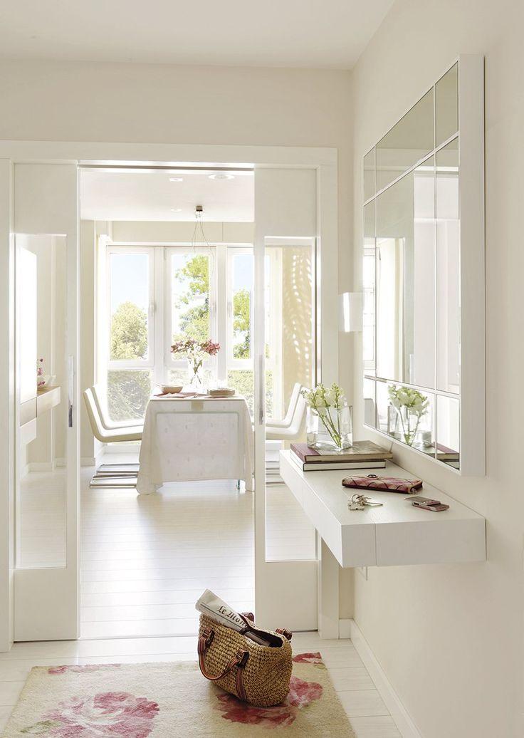 En blanco recibidores y pasillos pinterest entrada - Entradas y recibidores ...