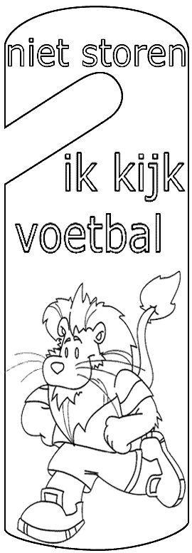 ik kijk voetbal deurhanger http://www.knutselidee.nl/vader/ikkijkvoetbal.htm