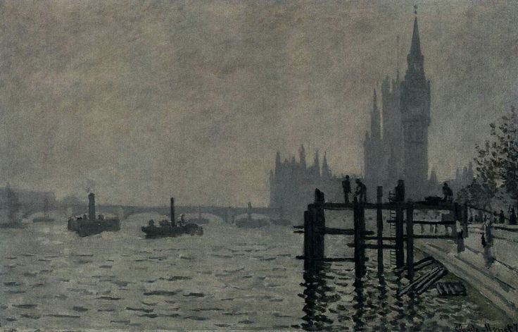 The Thames below Westminster c. 1871 Oil on canvas, 47 x 63 cm National Gallery, London