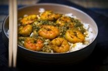Caribbean Curry Prawns & Rice